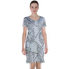 The Abstract Design On The Xuzhou Art Museum Short Sleeve Nightdress