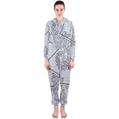 The Abstract Design On The Xuzhou Art Museum Hooded Jumpsuit (Ladies)