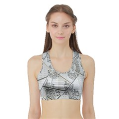 The Abstract Design On The Xuzhou Art Museum Sports Bra with Border