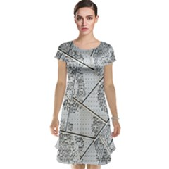 The Abstract Design On The Xuzhou Art Museum Cap Sleeve Nightdress