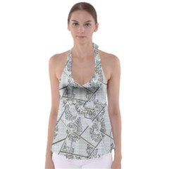 The Abstract Design On The Xuzhou Art Museum Babydoll Tankini Top