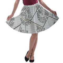 The Abstract Design On The Xuzhou Art Museum A-line Skater Skirt
