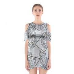 The Abstract Design On The Xuzhou Art Museum Shoulder Cutout One Piece