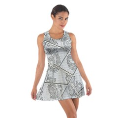The Abstract Design On The Xuzhou Art Museum Cotton Racerback Dress