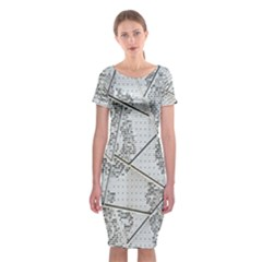 The Abstract Design On The Xuzhou Art Museum Classic Short Sleeve Midi Dress