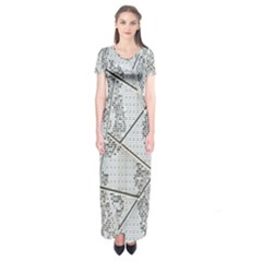 The Abstract Design On The Xuzhou Art Museum Short Sleeve Maxi Dress