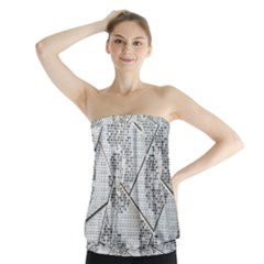 The Abstract Design On The Xuzhou Art Museum Strapless Top