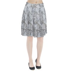 The Abstract Design On The Xuzhou Art Museum Pleated Skirt