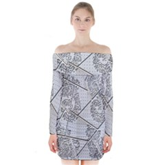 The Abstract Design On The Xuzhou Art Museum Long Sleeve Off Shoulder Dress