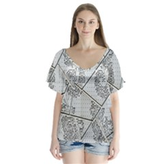 The Abstract Design On The Xuzhou Art Museum Flutter Sleeve Top