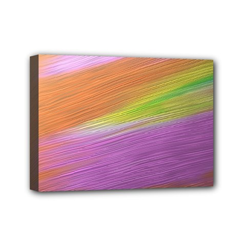 Metallic Brush Strokes Paint Abstract Texture Mini Canvas 7  x 5