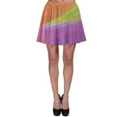 Metallic Brush Strokes Paint Abstract Texture Skater Skirt