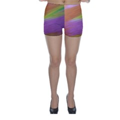 Metallic Brush Strokes Paint Abstract Texture Skinny Shorts