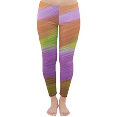 Metallic Brush Strokes Paint Abstract Texture Classic Winter Leggings
