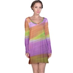 Metallic Brush Strokes Paint Abstract Texture Long Sleeve Nightdress