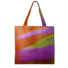 Metallic Brush Strokes Paint Abstract Texture Zipper Grocery Tote Bag