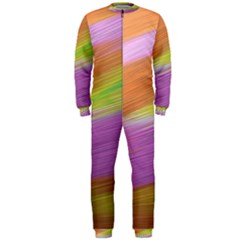 Metallic Brush Strokes Paint Abstract Texture OnePiece Jumpsuit (Men)