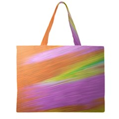 Metallic Brush Strokes Paint Abstract Texture Large Tote Bag
