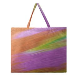 Metallic Brush Strokes Paint Abstract Texture Zipper Large Tote Bag