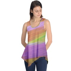 Metallic Brush Strokes Paint Abstract Texture Sleeveless Tunic