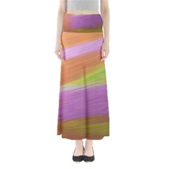 Metallic Brush Strokes Paint Abstract Texture Maxi Skirts