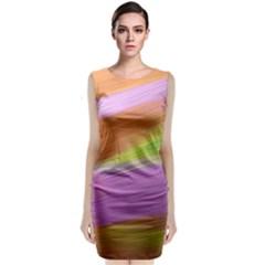Metallic Brush Strokes Paint Abstract Texture Classic Sleeveless Midi Dress