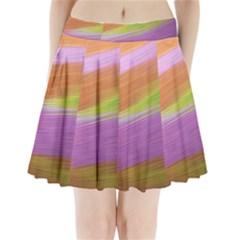 Metallic Brush Strokes Paint Abstract Texture Pleated Mini Skirt