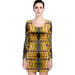 Light Steps Abstract Long Sleeve Bodycon Dress