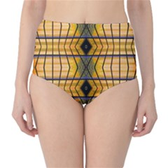 Light Steps Abstract High Waist Bikini Bottoms