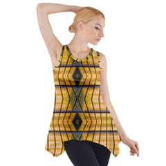 Light Steps Abstract Side Drop Tank Tunic
