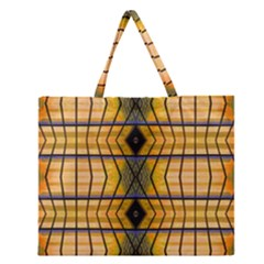 Light Steps Abstract Zipper Large Tote Bag