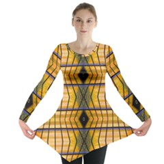 Light Steps Abstract Long Sleeve Tunic