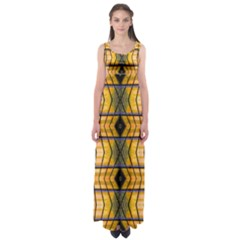 Light Steps Abstract Empire Waist Maxi Dress