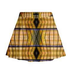 Light Steps Abstract Mini Flare Skirt