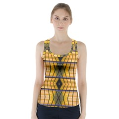Light Steps Abstract Racer Back Sports Top