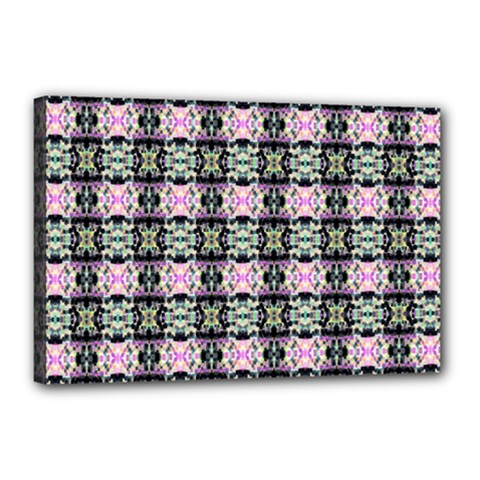 Colorful Pixelation Repeat Pattern Canvas 18  X 12