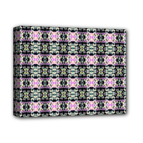 Colorful Pixelation Repeat Pattern Deluxe Canvas 14  X 11
