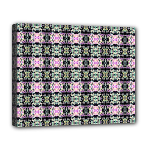 Colorful Pixelation Repeat Pattern Deluxe Canvas 20  x 16