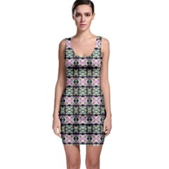 Colorful Pixelation Repeat Pattern Sleeveless Bodycon Dress