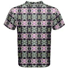 Colorful Pixelation Repeat Pattern Men s Cotton Tee
