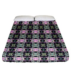Colorful Pixelation Repeat Pattern Fitted Sheet (california King Size)