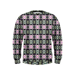 Colorful Pixelation Repeat Pattern Kids  Sweatshirt