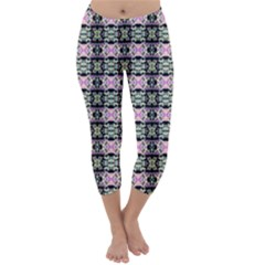 Colorful Pixelation Repeat Pattern Capri Winter Leggings