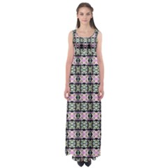Colorful Pixelation Repeat Pattern Empire Waist Maxi Dress