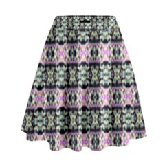 Colorful Pixelation Repeat Pattern High Waist Skirt