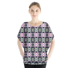 Colorful Pixelation Repeat Pattern Blouse