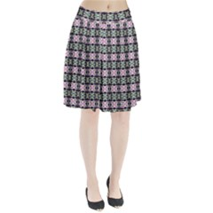 Colorful Pixelation Repeat Pattern Pleated Skirt