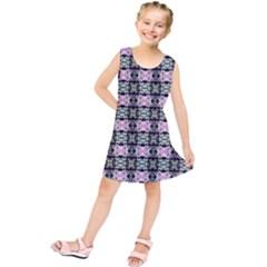 Colorful Pixelation Repeat Pattern Kids  Tunic Dress