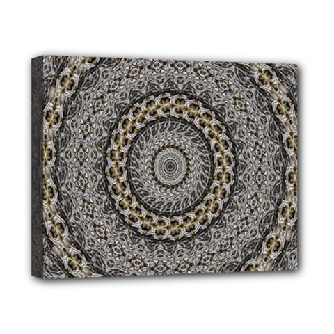 Celestial Pinwheel Of Pattern Texture And Abstract Shapes N Brown Canvas 10  X 8