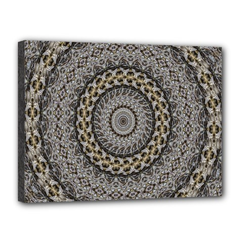 Celestial Pinwheel Of Pattern Texture And Abstract Shapes N Brown Canvas 16  X 12